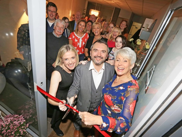 Husband and wife team Warren & Sinead York are joined by TV presenter Pamela Ballantine at the launch of their new health and wellbeing practice in Ballyhackamore, East Belfast.