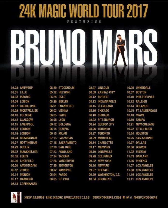 Bruno Mars Tour