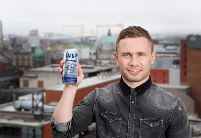 Carl Frampton launches Harp Pure Here cans - Belfast