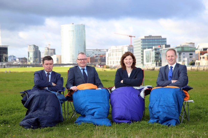 sleep out in aid of the Action for Children charity