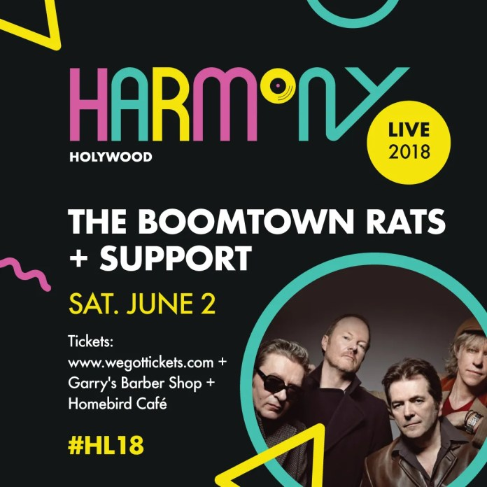 Boomtown Rats To Headline Co Down's Harmony Live Weekend