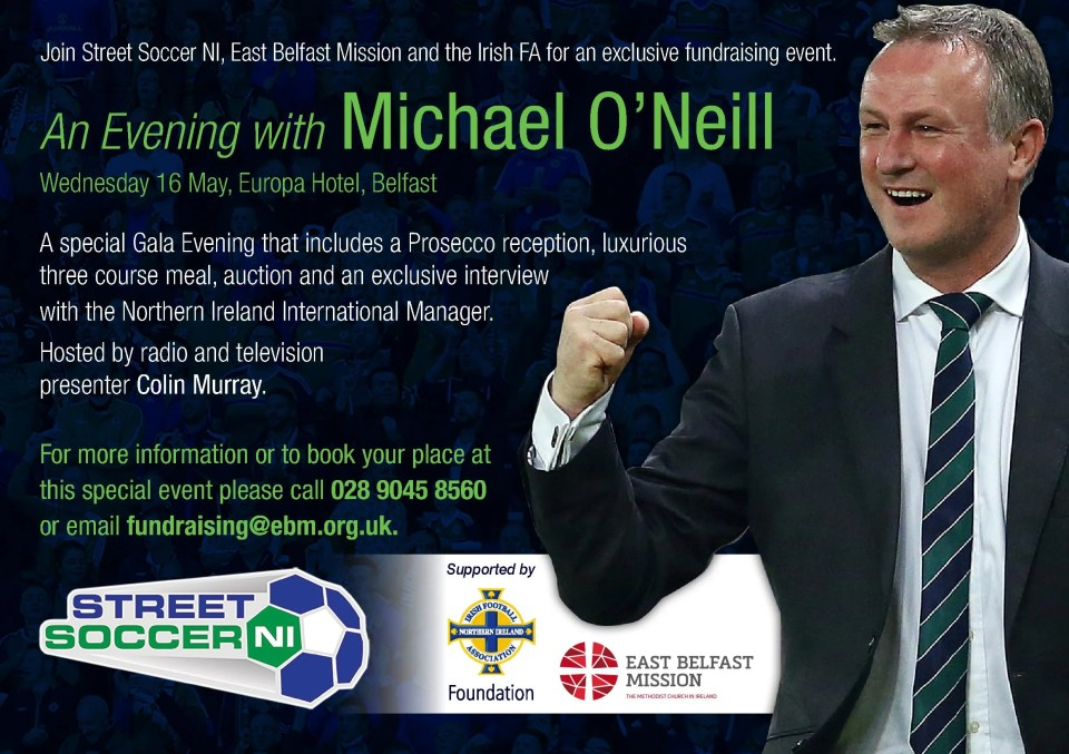 An Evening with Michael O'Neill EAST BELFAST MISSION