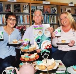 Libraries NI staff get ready for Macmillan Coffee Morning