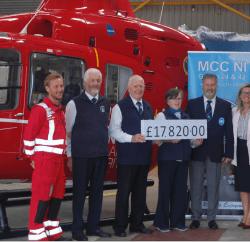 Motor Caravanners' Club NI Raises £17,820 for Air Ambulance Northern Ireland