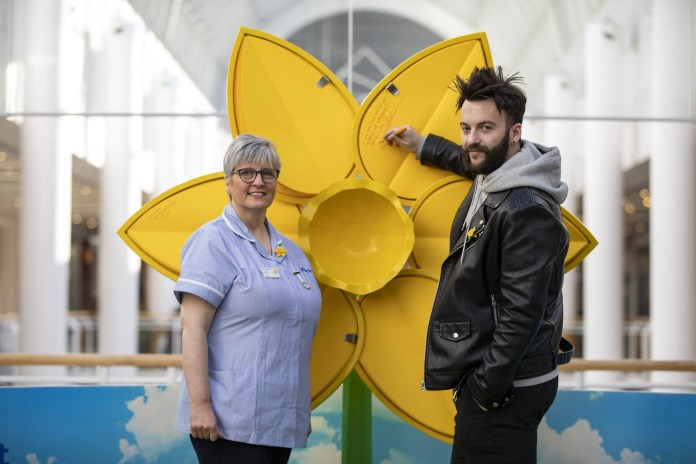 Super-sized daffodil springs up in Belfast