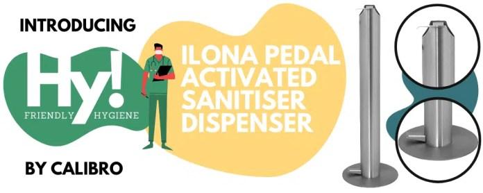 Ilona foot operated Sanitiser pump