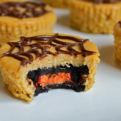 Halloween Oreo Pumpkin Cheesecake Bites