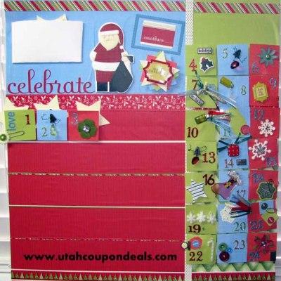 Homemade Magnetic Christmas Advent Calendar