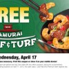 FREE Samurai Surf & Turf Serving from Panda Express Coupon (Wednesday – 4/17)