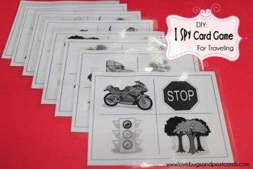 I Spy Card Game Travel Crafts