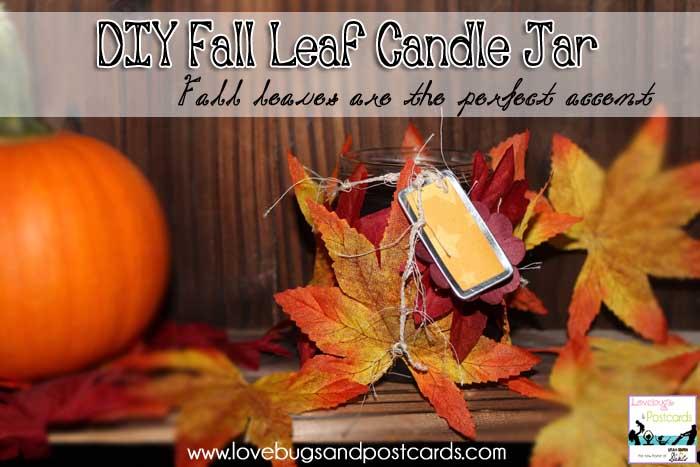 DIY: Fall Leaf Candle Jars - www.utahcoupondeals.com