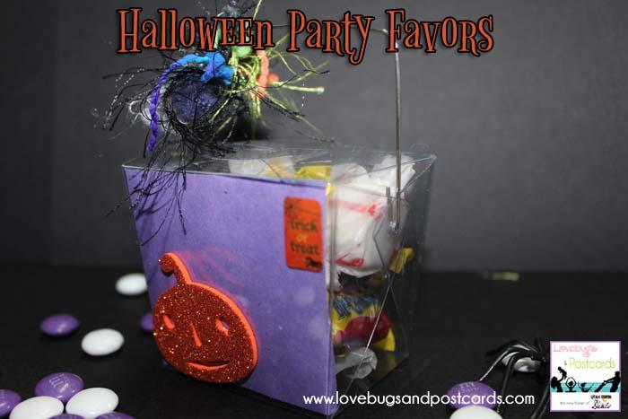 Halloween Party Favors Treat Buckets