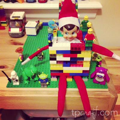 Elf on the Shelf Ideas - Lego Prisoner (Toy Story 3)