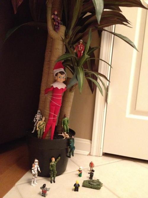 Elf on the Shelf Ideas - Hostage