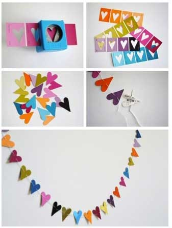 DIY Heart Banner - 10 DIY Valentine's Day Projects