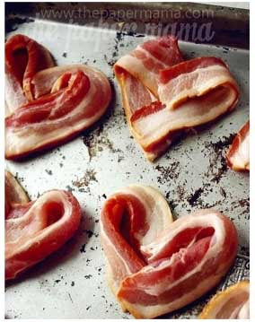 10 Valentine's Day Food & Treats - Heart Shaped Bacon