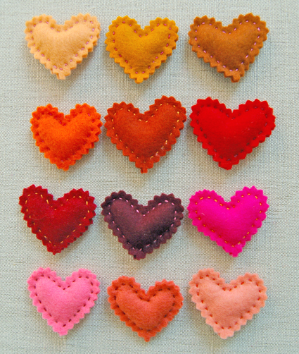 Valentine's Heart Pins - 10 DIY Valentine's Day Projects