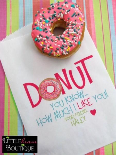 Donut Teacher Valentines Gift