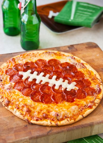 DIY Football Pepperoni Pizza