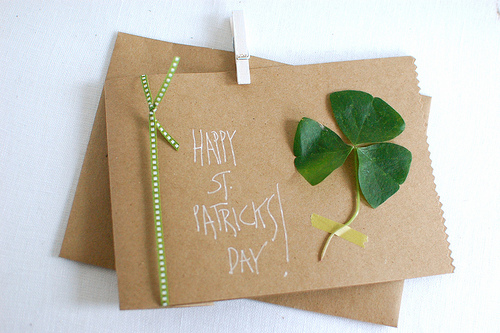 St. Patrick's Day Homemade Clover Card