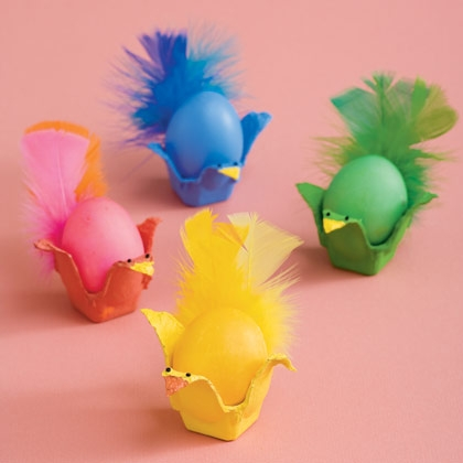 15 Easter Craft Ideas {chicks, bunnies, lambs, and more} - Fancy Feathered Friends Egg Carton Craft