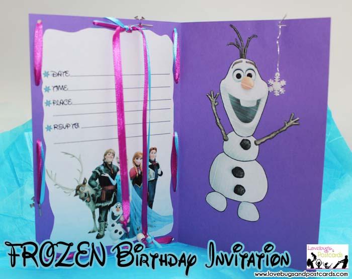 disney frozen birthday invitation with