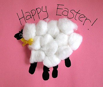 15 Easter Craft Ideas {chicks, bunnies, lambs, and more} - Handprint Easter Lamb