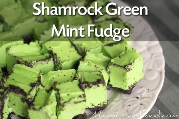 17 St. Patrick's Day Treats {easy, fun, and colorful} - Shamrock Saint Patrick's Day Fudge