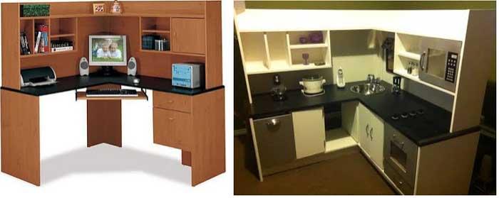DIY wood kitchen