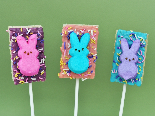 Easter Peeps Bunny Rice Krispies Treats Pops