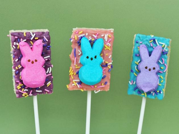 Easter Peeps Bunny Rice Krispies Treats Pops