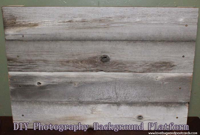 DIY Wood Photo Background - Platform