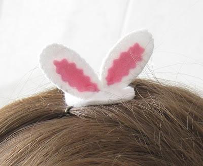 Easter bunny ears hair clip