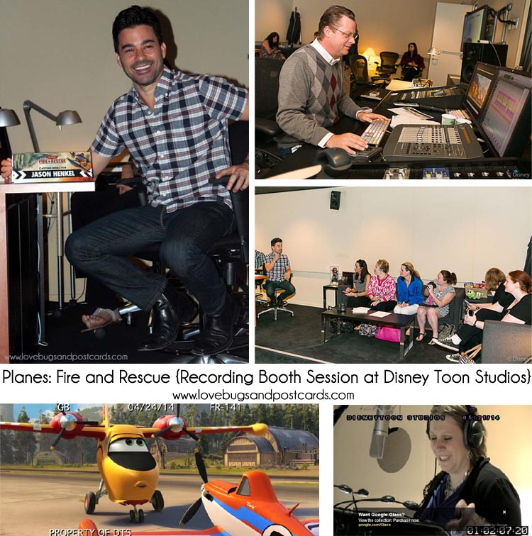 Recording Booth Session at Disney Toon Studios - Voice of Dipper from Planes: Fire and Rescue