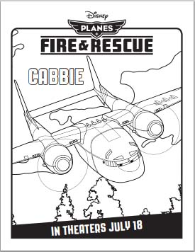 Planes: Fire and Rescue Coloring Pages - Cabbie