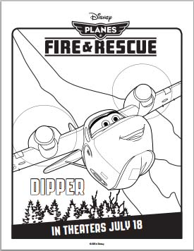 Planes: Fire and Rescue Coloring Pages - Dipper