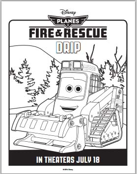 Planes: Fire and Rescue Coloring Pages - Drip