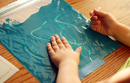 Paint Bag Writing - Educational Activities for Kids