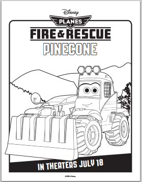 Planes: Fire and Rescue Coloring Pages - Pinecone