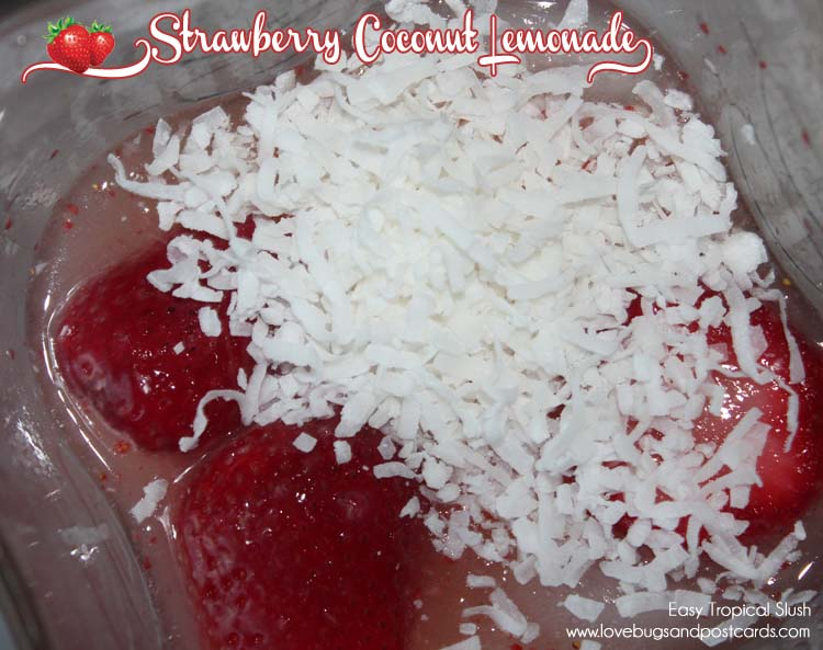 Strawberry Coconut Lemonade Recipe {Easy Tropical Slush}