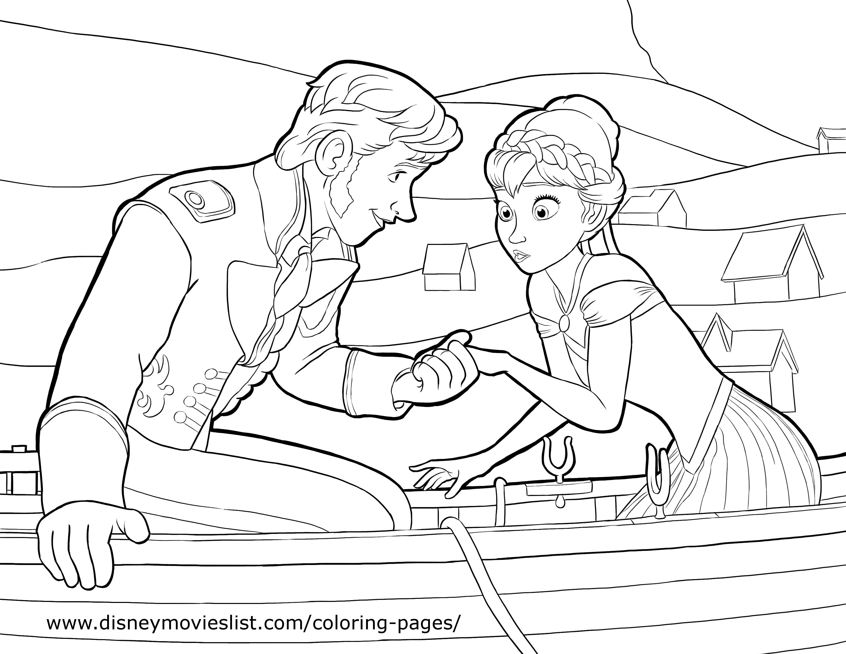 Frozen coloring pages and crafts