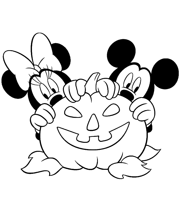 free disney halloween coloring pages - photo#23