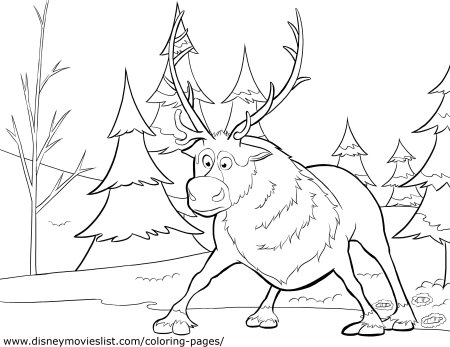 FROZEN Sven Coloring Page