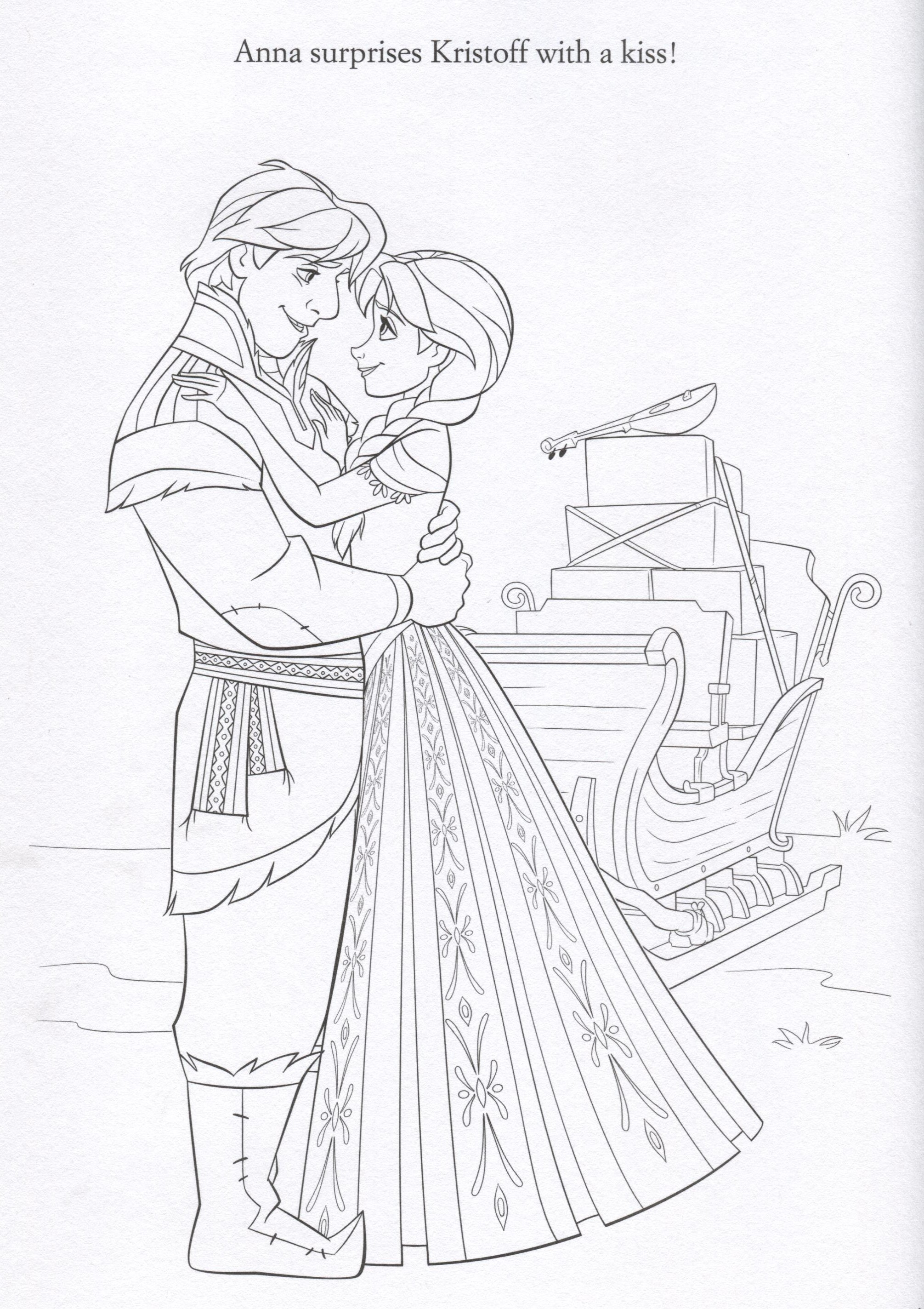Disney FROZEN Coloring Pages - Lovebugs and Postcards