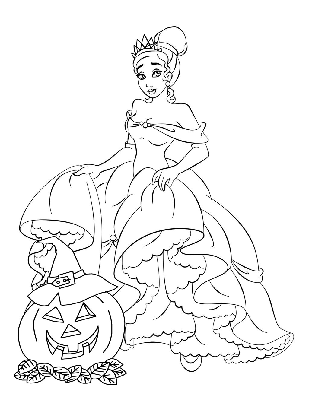 disney princess free disney halloween coloring pages
