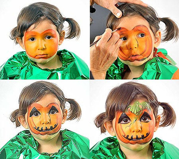 Pumpkin Kid Face Painting