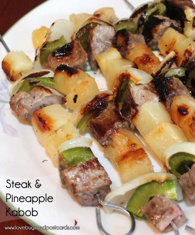 Steak & Pineapple Kabobs Recipe