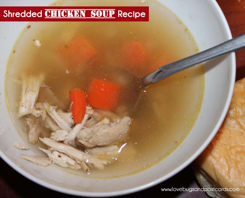 Shredded Chicken Soup Recipe