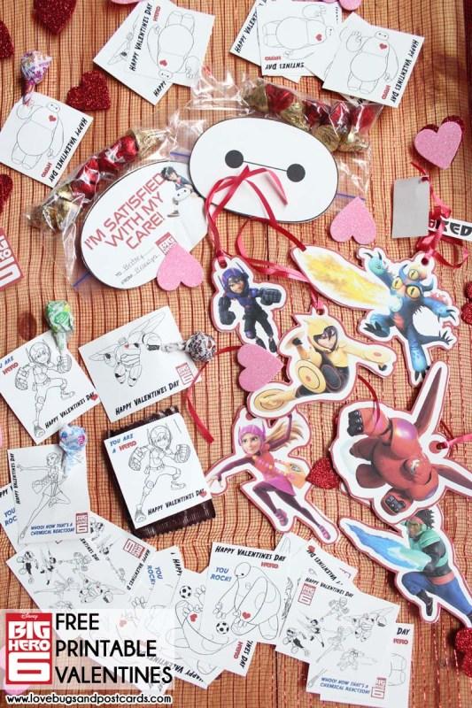 Big Hero 6 and Baymax Valentines {Free Printables}