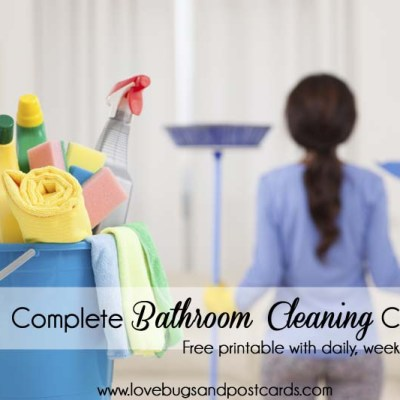 Complete Bathroom Cleaning Checklist Printable